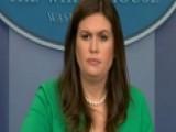 Emotional Sarah Sanders Addresses Las Vegas Tragedy At WH