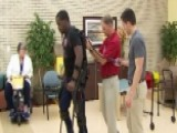 Exoskeleton Suit Helps Paralyzed Navy Veteran Walk Again