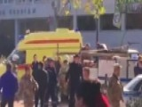 Emergency Vehicles On Scene Of Deadly Blast In Crimea