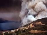 Firefighters Battle Raging Blaze In Southern Calif