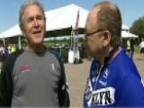 Former President Bush Talks Painting, Giving Back To Vets