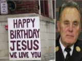 Firefighters Refuse To Remove Firehouse Christmas Message