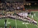 Football Team Clashes With Band, Practices During Anthem