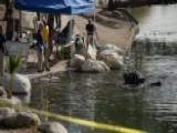 FBI Dive Teams Search Lake In San Bernardino For Clues