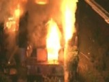 Firefighters Respond To Massive House Fire In California