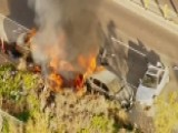 Fiery Aftermath To Police Pursuit In California