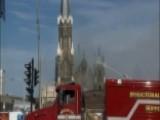 Fire Crews Battle Blaze At Historic Milwaukee Church