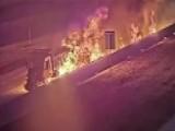 Fiery Dump Truck Crash Caught On Camera