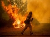 Firefighters Battle More Than A Dozen Wildfires In Calif