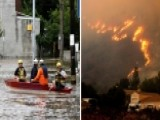 Flooding Swamps Northeast Homes As Western Wildfires Burn