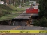 Florence Washes Away Road In North Carolina Town