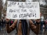 French Students Protesting Police Brutality And Government Policies