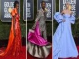 For Hollywood's Elite, The Golden Globes Red Carpet Is All About Designer Threads And Big Fashion Statements