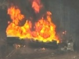 Gasoline Tanker Rolls Over, Explodes In Massachusetts