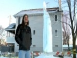 Giant Man-made Icicle Sparks Debate