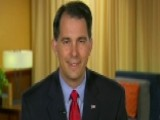 Gov. Scott Walker Takes On Clinton, Unions