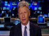 Gary Johnson: Trump Is Toast