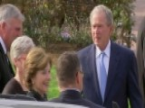 George W. Bush And Laura Bush Pay Respects To Billy Graham
