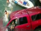 Good Samaritans Save Mother, Son And Dog From Sinking Truck