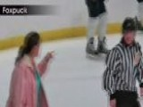 Hockey Mom Walks Out On The Ice