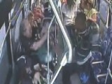 Hero Saves Pregnant Woman In Bus Brawl