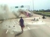 Highway Hero: Trucker Rushes To Save Woman, Baby From Fire