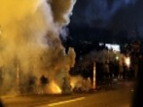 Heavy Gunfire, Grenades And Tear Gas In Ferguson Streets