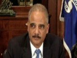 Holder: Disappointed That Some Resorted To Violence