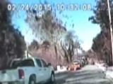 Huge Gas Leak Explosion Caught On Police Dash Cam