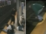 Hero Jumps Onto Tracks To Save Man Who Fell Off Platform