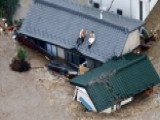 Houses Washed Away As River Bursts Banks During Heavy Rain