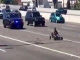 Hot Wheels: Go-kart Flees Cops In Bizarre Chase On Highway