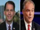 How Gov. Walker's 'Tim Kaine' Compared To The Real Thing