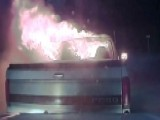 Hero Cop Pushes Burning Truck Away From Restaurant