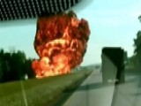 Huge Explosion After Gas Tanker Crashes Into Dump Truck