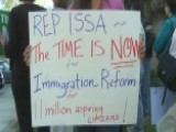 Immigration Rally At Rep. Issa's Office