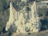 Implosion Levels Apartment Building In Greenville, SC