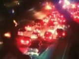 Illegal Street Race Blocks Traffic In Los Angeles