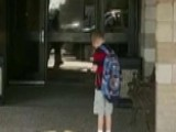 Image Of Little Boy Stopping To Say Pledge, Pray Goes Viral
