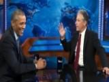 Jon Stewart's Obama Embrace