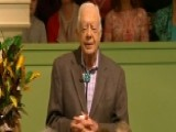 Jimmy Carter Draws Large Crowds To His Sunday School