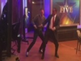 Juan Williams Teaches Tom Shillue How To Do The 'Stanky Leg'