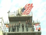 KT McFarland On The USS Oak Hill For Fleet Week