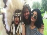 Kardashian Ruffles Feathers With Native American Headdress