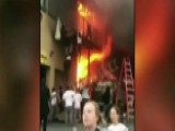 Kids Jump From Balcony To Escape Fire