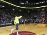 Lebron Hugs Fan After $75,000 Half-court Shot
