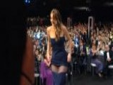 Lawrence's Dress Slips Down At SAGs