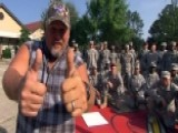 Larry The Cable Guy Surprises The Troops