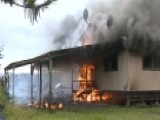Lava Flow Burns Down Home On Hawaii's Big Island