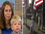 Little Boy Runs Across Tarmac To Shake Hands With Servicemen